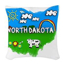 North Dakota Woven Throw Pillow
