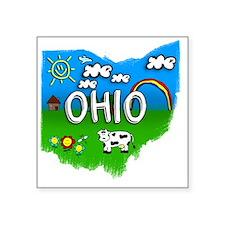 """Ohio Square Sticker 3"""" x 3"""""""
