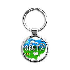 Obetz Round Keychain