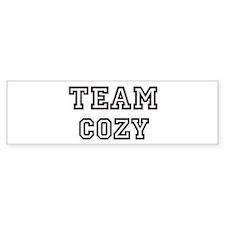 COZY is my lucky charm Bumper Bumper Bumper Sticker