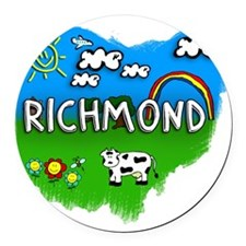 Richmond Round Car Magnet