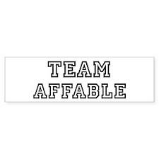 Team AFFABLE Bumper Bumper Sticker
