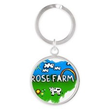 Rose Farm Round Keychain
