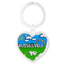 Russellville Heart Keychain