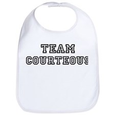 COURTEOUS is my lucky charm Bib