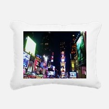Time Square Rectangular Canvas Pillow