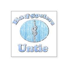 """vintage Bad Spelers Untie Square Sticker 3"""" x 3"""""""
