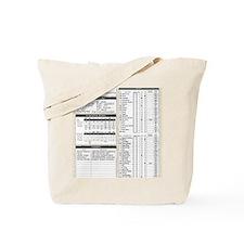 Mr Llamatastic Character Sheet Front Tote Bag