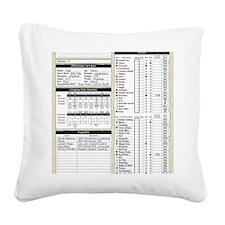 Mr Llamatastic Character Shee Square Canvas Pillow