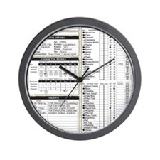 Mr Llamatastic Character Sheet Front Wall Clock
