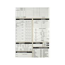 Mr Llamatastic Character Sheet Ba Rectangle Magnet