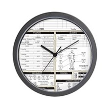 Mr Llamatastic Character Sheet Back Wall Clock