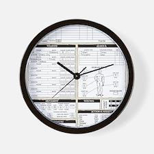 Mr Llamatastic Character Sheet Back Wall Clock