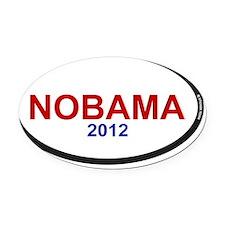 nobama 2012 oval rec 1 Oval Car Magnet