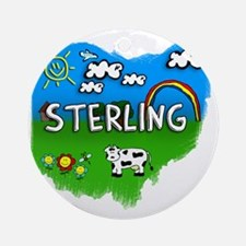 Sterling Round Ornament