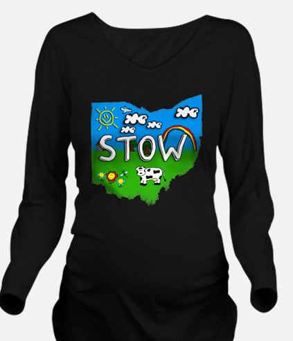 Stow Long Sleeve Maternity T-Shirt