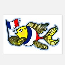 French Flag Fish FabSpark Postcards (Package of 8)