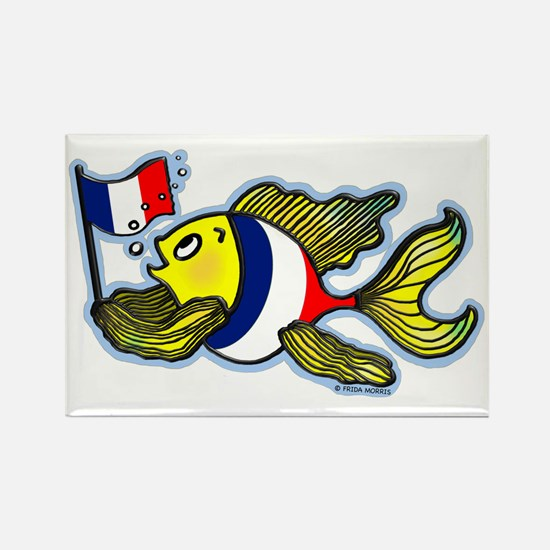 French Flag Fish FabSpark funny s Rectangle Magnet