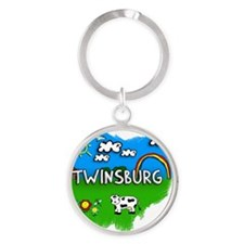 Twinsburg Round Keychain