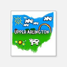 """Upper Arlington Square Sticker 3"""" x 3"""""""