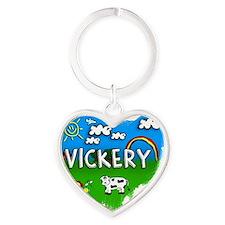 Vickery Heart Keychain