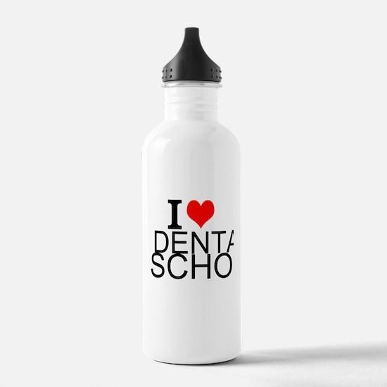 I Love Dental School Water Bottle