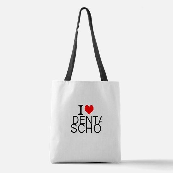 I Love Dental School Polyester Tote Bag
