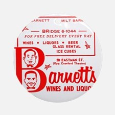 Barnetts Wines and Liquors_Cafe_Red Round Ornament