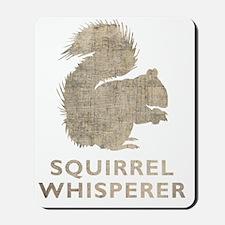 squirrelwhisperer1Bk Mousepad