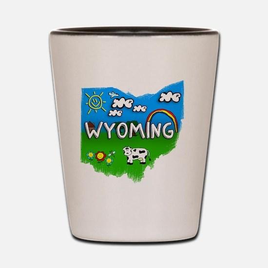 Wyoming Shot Glass