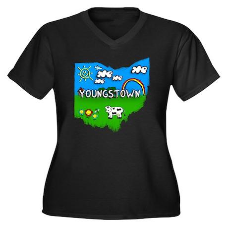 Youngstown Women's Plus Size Dark V-Neck T-Shirt