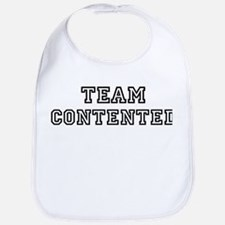 CONTENTED is my lucky charm Bib