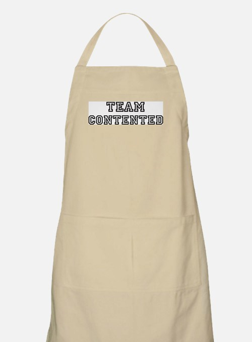 CONTENTED is my lucky charm BBQ Apron