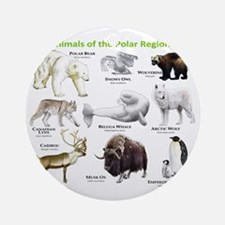 Animals of the Polar Regions Round Ornament