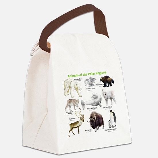 Animals of the Polar Regions Canvas Lunch Bag