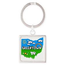 Greentown Square Keychain