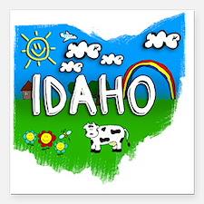 """Idaho Square Car Magnet 3"""" x 3"""""""