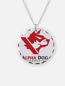Alpha_Dog_Red_Logo_Front_TSh Necklace