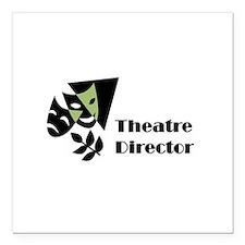 "Theatre Director Magnet Square Car Magnet 3"" x 3"""