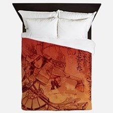 samurai chic king duvet Queen Duvet