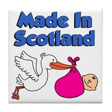 Made In Scotland Girl Tile Coaster