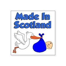 "Made In Scotland Boy Square Sticker 3"" x 3"""