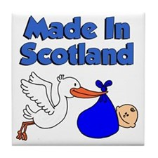 Made In Scotland Boy Tile Coaster