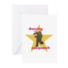 Dancing with Sasquatch Greeting Cards