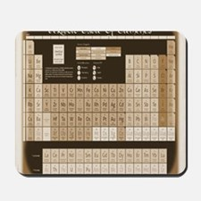 math table tan Mousepad