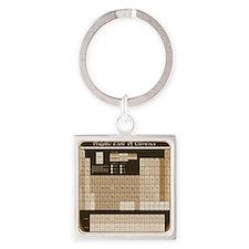 math table tan Square Keychain