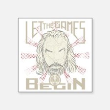 """Let the Games Begin light Square Sticker 3"""" x 3"""""""