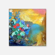 """Pillow Redon Ophelia Square Sticker 3"""" x 3"""""""