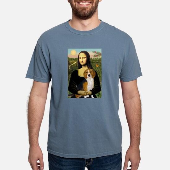 Mona Lisa & Beagle Ash Grey T-Shirt