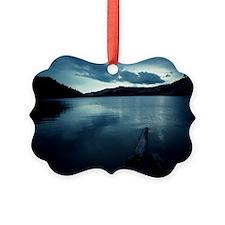 Tranquil lake, Yosemite, Californ Picture Ornament